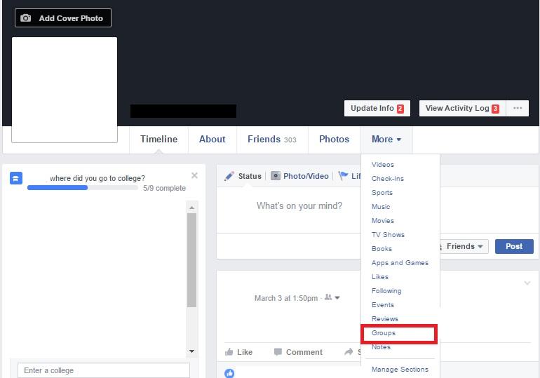 Locate Facebook Groups