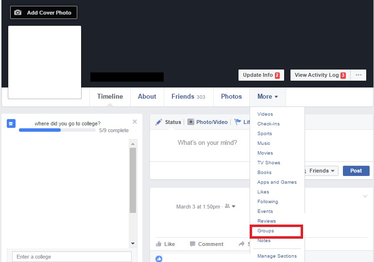 Locate Facebook Groups